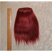 "mohair weft Coarse Dark Auburn red straight 6-8x65"" 25412 HP"