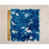 "brilliant blue angora goat fine adult Mohair locks 1 oz 3-5"" bulk dyed  25471"