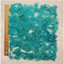 "turquoise blue 0.1% angora goat fine young adult Mohair locks 1 oz 3-5""  25475"