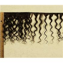"""mohair weft coarse deep brown 4 curly weft 7-9x200"""" 90-100g 25695 FP"""