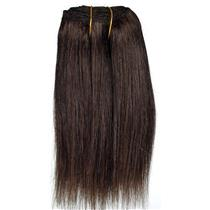 "Dark Brown 3  straight mohair weft coarse  6-8"" x200""  26612 FP"