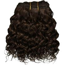 "Dark Brown 3 curly mohair weft coarse  6-8"" x200""  26622  FP"