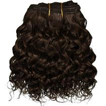 "Dark Brown 3 curly mohair weft coarse 6-8"" x100"" 26312 HP"