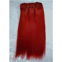 "Red straight mohair weft coarse 6-8"" x100"" 25894 HP"