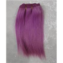 "Light Purple straight mohair weft coarse  6-8"" x200""  25902 FP"