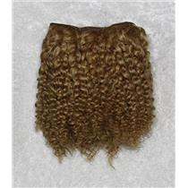 "Golden blonde 16-2 bebe curl  tight curl  mohair weft coarse 6-8""x 50""  25974 QP"