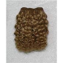 "golden ash blonde 16D mohair weft coarse curly weft 7-9x200"" 90-100g 26276 FP"