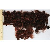 Auburn brown G angora goat mohair locks doll hair 26097