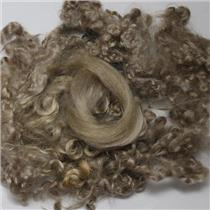 "color 620 light  blonde fine curly angora goat mohair doll hair 1 oz 3-6"" 26179"