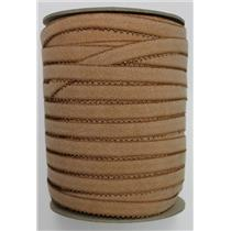 "Crownette trims Finishing Plush Elastic dk nude full spool abt 150 ydx5/8"" 26196"