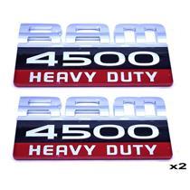 Set of 2 - New OEM Dodge Truck 4500 Heavy Duty Front Door Logo Emblem Badge Name