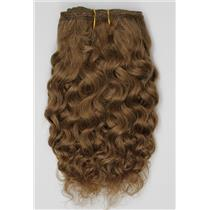 "Warm brown 27 -2 mohair weft coarse curly weft 6-8"" x 50"" 20-25 g 26356 QP"
