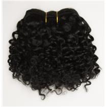 """Black/brown #1B curly mohair weft coarse  6-8"""" x200""""  26363  FP"""