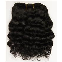 "Black/brown #1B  wavy mohair weft coarse  6-8"" x200""  26366  FP"