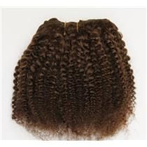 "Brown 6 bebe curl tight curl - mohair weft coarse 6-8"" x200"" 26381 FP"