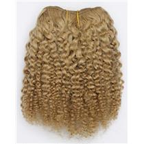 "Blonde 14  bebe curl - tight curl  mohair weft coarse 7- 8"" x 50"" 26527 QP"