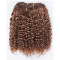 "Light auburn #10 bebe curl- tight curl  mohair weft coarse 7- 8"" x 50"" 26548  QP"