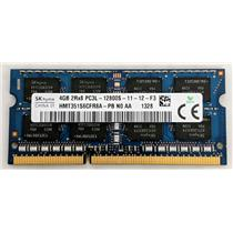 Hynix HMT351S6CFR8A-PB 4GB 2Rx8 PC3L-12800 1600MHz DDR3 Laptop nonECC Unbuffered