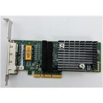 Sun Micro ATLS1QGE PCIe Quad Port Network Adapter 511-1422 Tested High Profile
