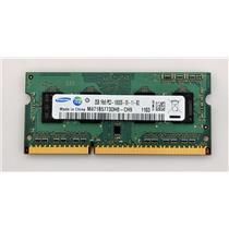 Samsung 2GB PC3-10600 DDR3-1333 non-ECC Unbuffered SODIMM 1.5V M471B5773DH0-CH9