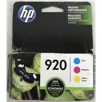 HP 920 Ink Cartridge Cyan, Magenta, Yellow, for OfficeJet N9H55FN