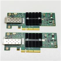 Lot of 2 Mellanox Single-Port Ethernet 10GbE Network Card MNPA19-XTR No Bracket