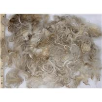 "Mohair raw white fine adult short remnant lot  slightly wavy 2.7 oz 1-3"" 26663"