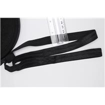 "Crownette trims satin finish fold over elastic black 3/4"" 1 yd 26700"