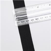 "Crownette trims matt finish fold over elastic black 15/16"" 1 yd 26702"