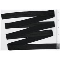 """Crownette trims satin finish fold over elastic Black  3/4"""" offset 1 yd 26706"""