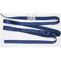 "Crownette trims - strap elastic Satin - Plush navy blue 1 yard. 5/8"" 26710"