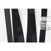 "Crownette trims - strap elastic Satin - Plush Black 5/8"" 1 yard. 5/8"" 26712"