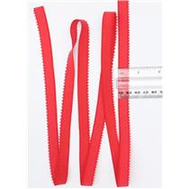 "Crownette trims  Picot elastic red 1 yard. 1/2"" 26714"