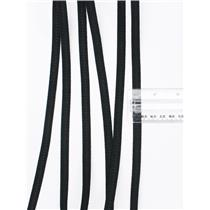 "Crownette trims  flat elastic Black 3/8""  1 yard. 26718"