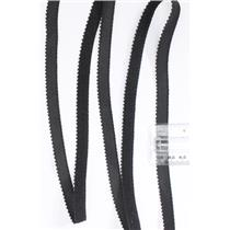 Crownette trims  Picot elastic Black 3/8 1 yard.26722
