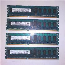 Lot of 4 Hynix HMT351R7CFR4A 16GB Kit 4x4GB 1Rx4 PC3L-10600R DDR3 ECC Registered
