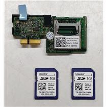 Dell SD Flash Card Reader 6YFN5- PowerEdge R620 R720 R520 R420 w/2x 1GB Kingston