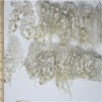 "Mohair washed  adult Natural white sorted curls 3-6"" 1 oz 26757"