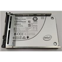 "Dell T1WH8 240GB 2.5"" 6Gb/s SATA SSD Intel SSDSC2KG240G8R w/ Dell Blade Tray"