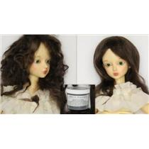 Brown 2A Wig making dye Jar,will Dye 5 lb mohair