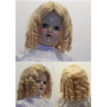 "Mohair Wig sausage curls hand sewn blonde sz 9 ""  11994"