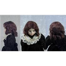 "Mohair Wig sausage curls hand sewn  brown sz 8 ""  11678"