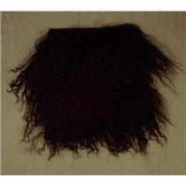 "2"" sq   Dark Spanish Brown  tibetan lambskin  wig seam 11376"