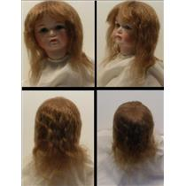 "Mohair Wig center crown bangs lt brown  sz 6"" 23683"