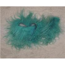 Brilliant turquoise tibetan lamskin scrap sample  22964