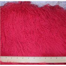 "2"" dark pink tibetan lambskin  wig no seams 22999"