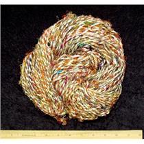 Hand spun sari silk viscose yarn 206 g  23284