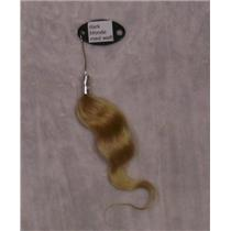 dark blonde  med weft color ring sample mohair  23396