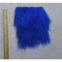"5 1/2 ""sq Cobalt blue  tibetan lambskin wig with seam  23821"