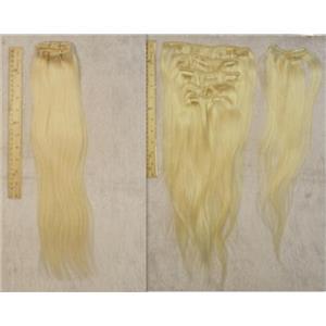 "blonde #613 silky human hair clip in 18""x100 g 23988 FP"